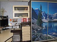 Двойной компьютерный стол с ящиками