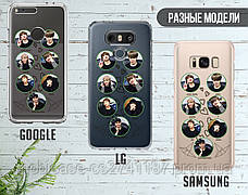 Силиконовый чехол для Samsung A600 Galaxy A6 (2018) BTS (БТС) (28222-3402), фото 3