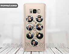 Силиконовый чехол для Samsung A600 Galaxy A6 (2018) BTS (БТС) (28222-3402), фото 2