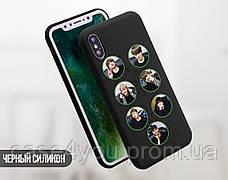Силиконовый чехол для Samsung G950 Galaxy S8 BTS (БТС) (28209-3402), фото 3