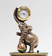 Статуэтка Слоник с часами с медным покрытием 0044