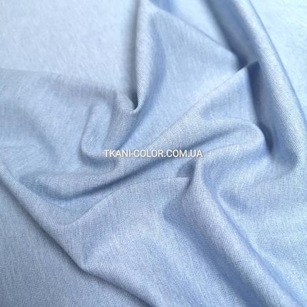 Трикотаж джерси голубой меланж, фото 2