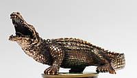 Статуэтка Крокодил с медным покрытием 0045