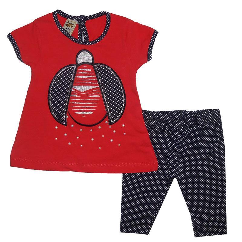 Костюм для девочки 68-80 арт.217333 футболка и лосины