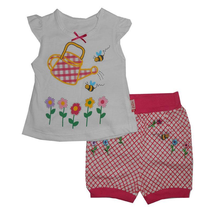 Костюм для девочки 68-86 трик. + х / б  17403 футболка + шорты
