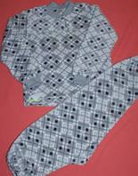 Детская теплая махровая пижама (разные цвета), на 8-9 лет, 195/215