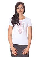 Красивая женская футболка с вышивкой (S-XL)