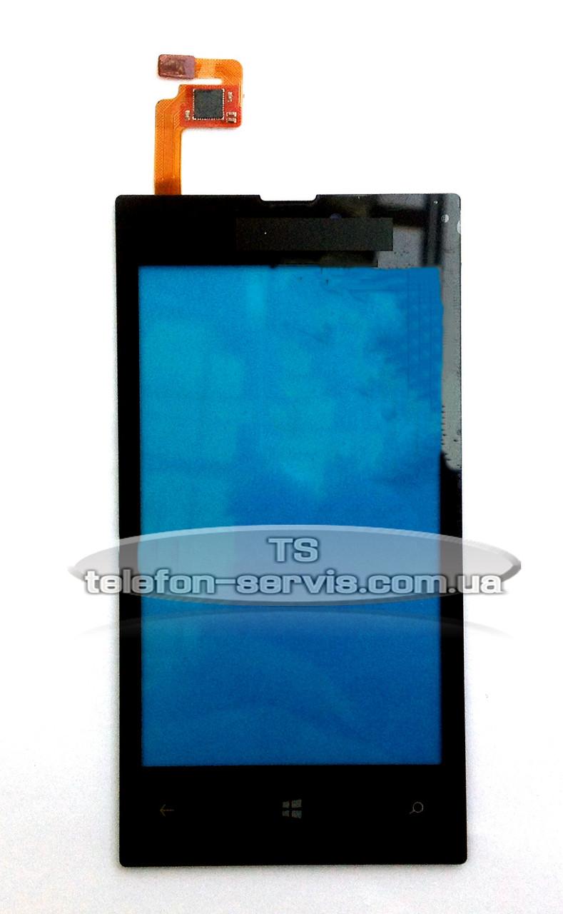 Сенсорний екран Nokia 520, 525 Lumia, чорний
