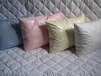Подушка, ткань тик, наполнитель холлофайбер, 50*70 см.(арт.2919)