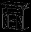 Тумба под ТВ Гранд МДФ 24\208 (1040х450х1094)