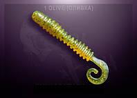 """Съедобный силикон Crazy Fish ACTIVE SLUG 2"""" оливка"""
