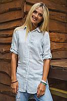 Рубашка женская в полоску длинная