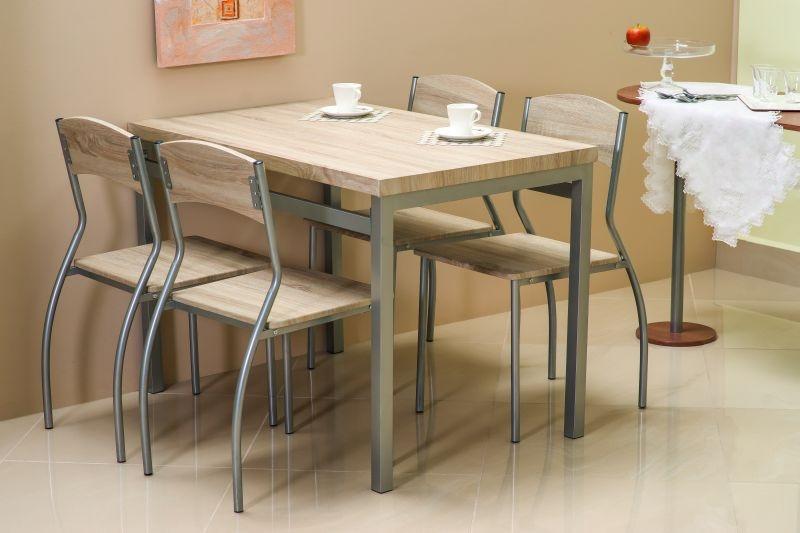 Столовый комплект ASTRO дуб сонома (стол+4 кресла) (Signal)