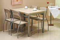Столовый комплект ASTRO дуб сонома (стол+4 кресла) (Signal), фото 1