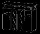 Тумба под ТВ Гранд МДФ 24\209 (1400х450х1094)