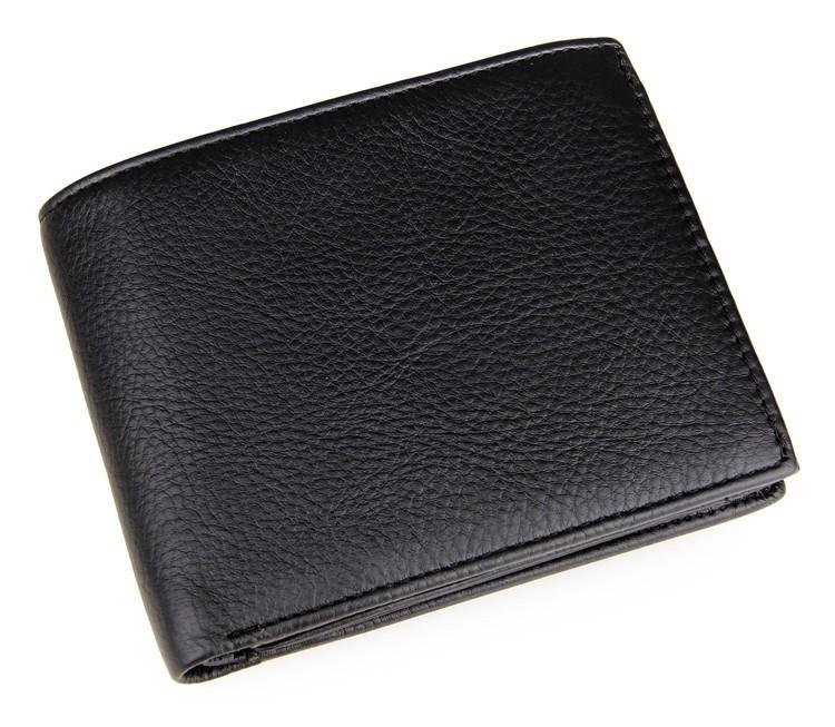 Кожаный кошелек Black Color 8086A