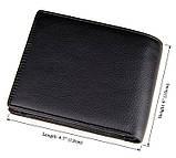 Кожаный кошелек Black Color 8086A, фото 6