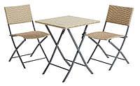 Комплект складной садовой мебели (раскладные 2 стула + складной столик )