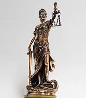 Статуэтка Фемида 32см с медным покрытием 0061. Подарок юристу