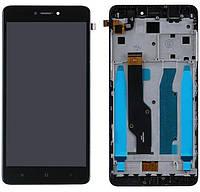 Дисплей (экран) для телефона Xiaomi Redmi Note 4 Snapdragon + Touchscreen with frame (copy) Black