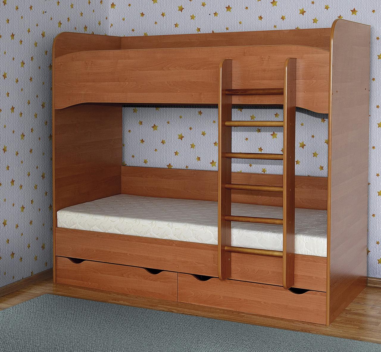 Кровать 2-х ярусная ДСП Летро