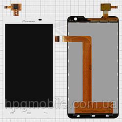 Дисплейный модуль (дисплей + сенсор) для Prestigio MultiPhone 5044 Duo, белый, оригинал