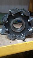 Фреза торцевая ф125 мм с механическим креплением 4-х гранных пластин КНТ