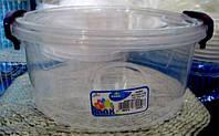 Контейнер с зажимом круглый глубокий №3 (2,1л) Турция