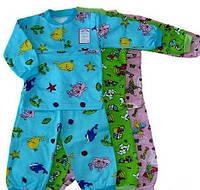 Пижама трикотажная с начесом, рост 92-104, 90\79