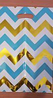 Пакети подарункові банан 27×15 (10 ш.) малюнок + золото