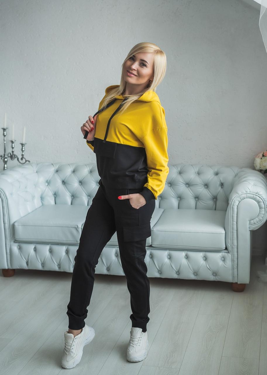 Модный спортивный костюм со штанами карго 42-56рр.