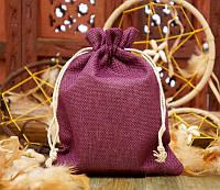 Подарочный мешочек для оформления к празднику 14,5х19,5 см.  Фиолетовый