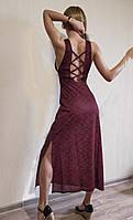 Платье длинное с открытой спиной Франция, красный