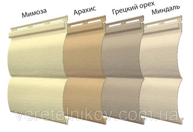 Сайдинг виниловый Блок хаус цветовая гамма