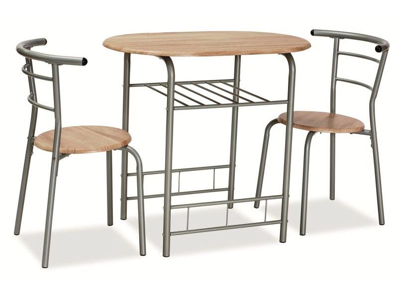 Столовий комплект GABO дуб сонома ( стіл+2 крісла) (Signal)