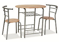 Столовий комплект GABO дуб сонома ( стіл+2 крісла) (Signal), фото 1
