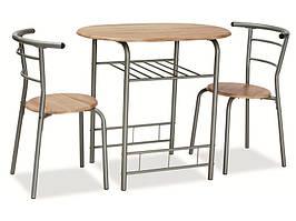 Столовый комплект  GABO дуб сонома ( стол+2 кресла) (Signal)