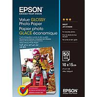 Фотобумага Epson, глянцевая, А6 (10х15), 183 г/м2, 50 листов, Value Series (C13S400038)