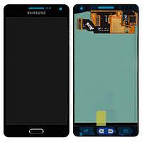 Дисплейный модуль (дисплей + сенсор) для Samsung A5 A500F / A500H / A500FU, синий, оригинал