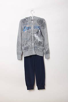 Спортивный костюм F&D 10-11 year (140-146 cm) Серый,синий (RY-FD7484_Gray-blue)