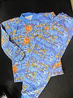 Пижама трикотажная с начесом, рост 164, 150\172