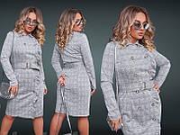 Платье женское  на пуговицах в клетку 42222, фото 1