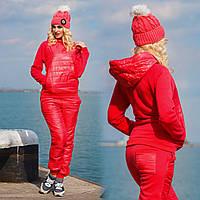 Д725 Спортивный костюм байка + синтепон (3цвета)