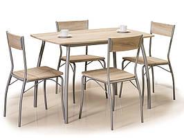Столовый комплект MODUS дуб сонома (стол+4 кресла) (Signal)