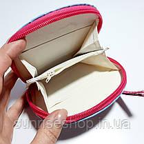 Кошелёк детский для девочки лаковый овальной формы с ручкой, фото 3