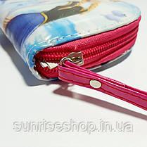 Кошелёк детский для девочки лаковый овальной формы с ручкой, фото 2
