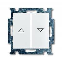 Кнопка 1-тактовая для жалюзи Basic55 белый (2026/4 UC-94-507)