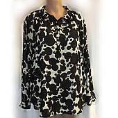 Женская блуза South из шифона, очень большой размер 56/58