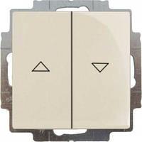Кнопка 1-тактовая жалюзи Basic55 слоновая кость (2026/4 UC-92-507)