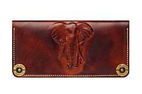 Кошелек, бумажник, портмоне Gato Negro Elephant Brown ручной работы